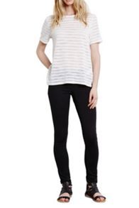 Stripe burnout t shirt