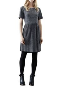 Pleated marl dress