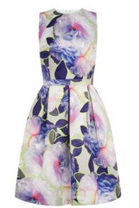 Neon Floral Prom Dress