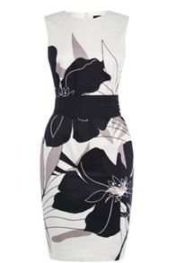Enlarged Floral Pencil Dress