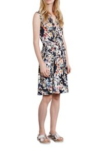 watercolour floral wrap dress