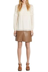 Faux Leather Pocket Skirt