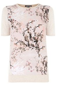 Blossom Woven Front Tee