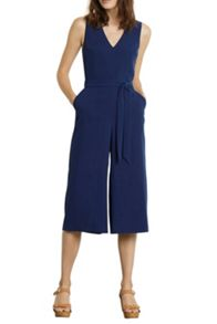 V-Neck Culotte Jumpsuit