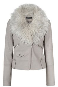 Luxe Fur Biker Jacket