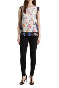 Placement Floral Shell Top