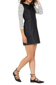 Warehouse Faux leather dress