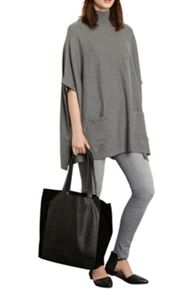 Unlined Suede Panel Shopper