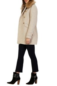 Warehouse Db Fur Collar Coat
