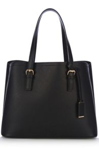 Double Buckle Detail Tote Bag