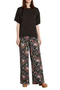 Warehouse Folk Floral Wide Leg Trouser