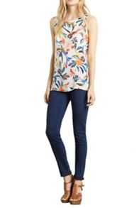 Passion Flower Shell Top