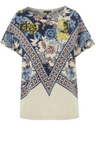Border Print Knitted Top