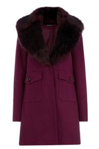 Extreme Faux Fur Collar Coat