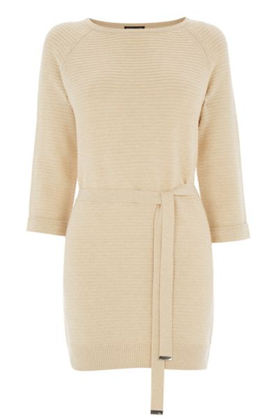 Warehouse Knitted Belted Tunic