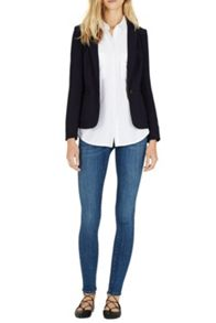 Textured tailored blazer