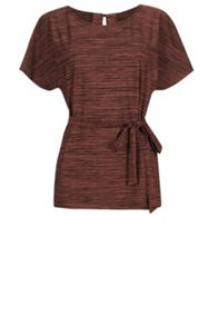 Space Dye Belted Tunic Top