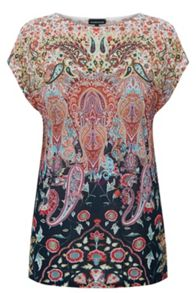Pretty Paisley Square Tee