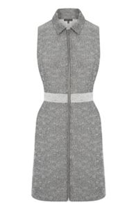 Warehouse Textured Zip Front Dress