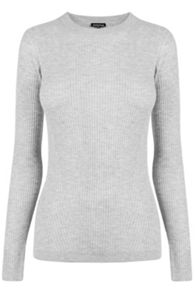 Warehouse Fashioned Rib Crew Jumper