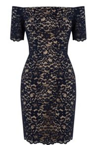 Lace Bardot Pencil Dress