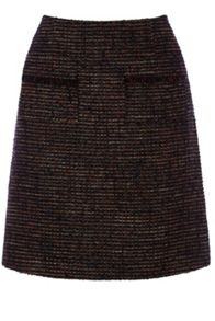 Tweed Pocket Detail Skirt