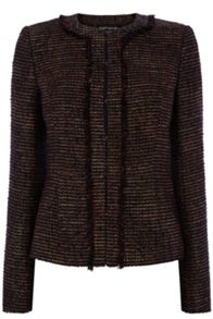 Warehouse Tweed Pocket Detail Jacket
