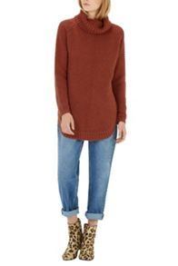 Warehouse Rib Curve Hem Jumper