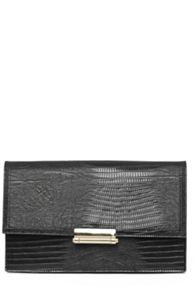 Textured Snake Bar Clutch