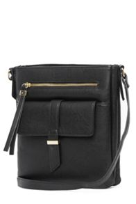 Tab Pocket Crossbody Bag