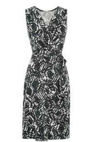 Abstract Tribal Wrap Dress