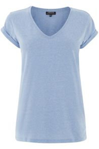 V Neck Nep Yarn Boyfriend Tee