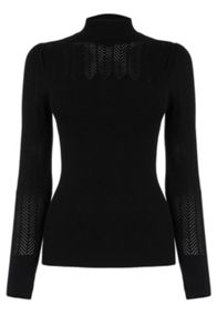Pointelle Yolk Rib Jumper