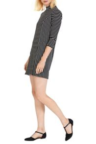 Warehouse Textured Stripe Dress