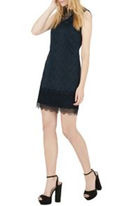 Warehouse Lace Jacquard Shift Dress