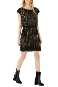 Bead And Sequin Scatter Dress