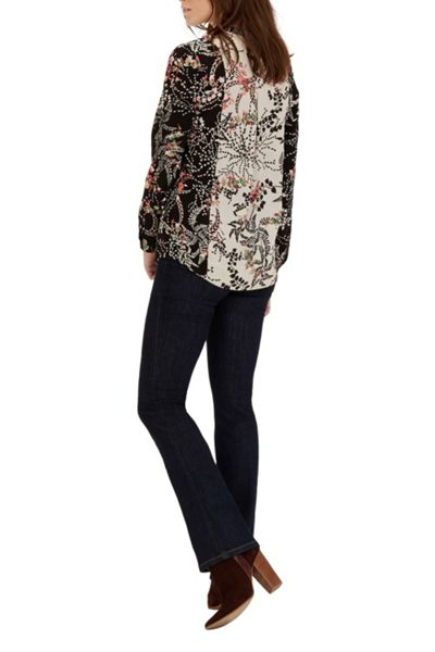 Warehouse Blocked Floral Blouse