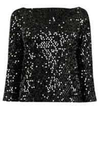 Tinsel Sequin Top