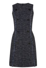 Button Front Tweed Dress