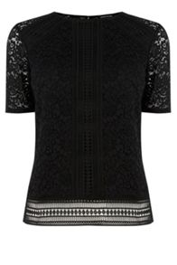 Panelled Lace Top
