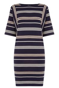 Warehouse Stripe Jumper Dress