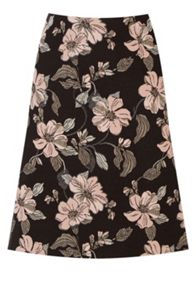 Warehouse Floral Jacquard Skirt