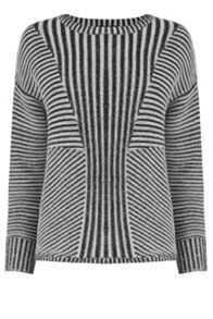 Marl Effect Ribbed Jumper