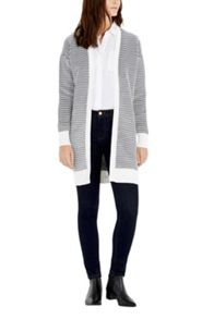 Warehouse Ottoman Stripe Cardigan
