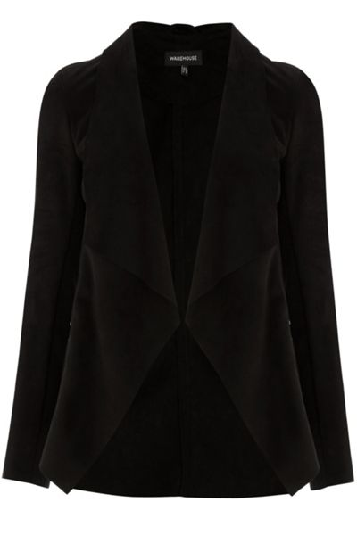 Warehouse Suedette Waterfall Jacket