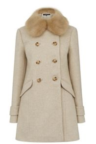 Db Fur Collar Coat