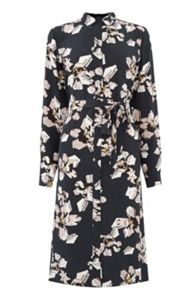 Warehouse Floral Belted Shirt Dress