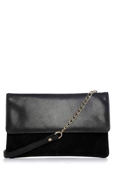 Warehouse Suede Leather Crossbody Bag