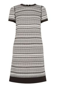 Geo Tweed Shift Dress