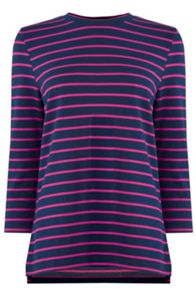 Stripe 3/4 Sleeve Top